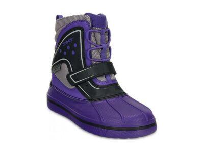 Crocs™ Kids' AllCast WaterProof Duck Boot Ultraviolet/Black