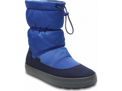 Crocs™ Lodgepoint Shiny Pull-On Boot Blue Jean/Navy