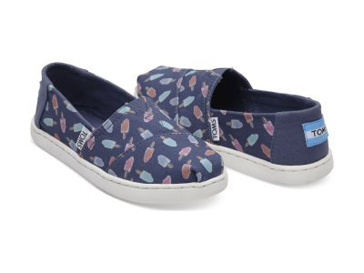 TOMS Popsicles Junior's Alpargata Cadet Blue