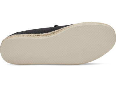 TOMS Washed Canvas Men's Deconstructed Alpargata Rope Black