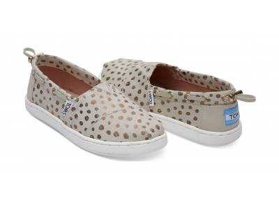 TOMS Dots Junior's Bimini Rose/Gold