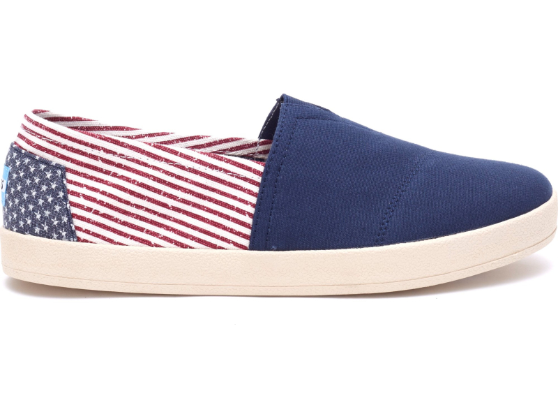 TOMS Canvas Flag Men's Avalon Sneaker Americana