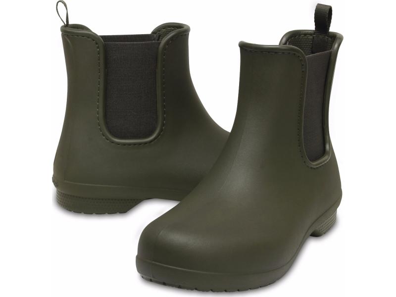 Crocs™ Freesail Chelsea Boot Dark Camo Green