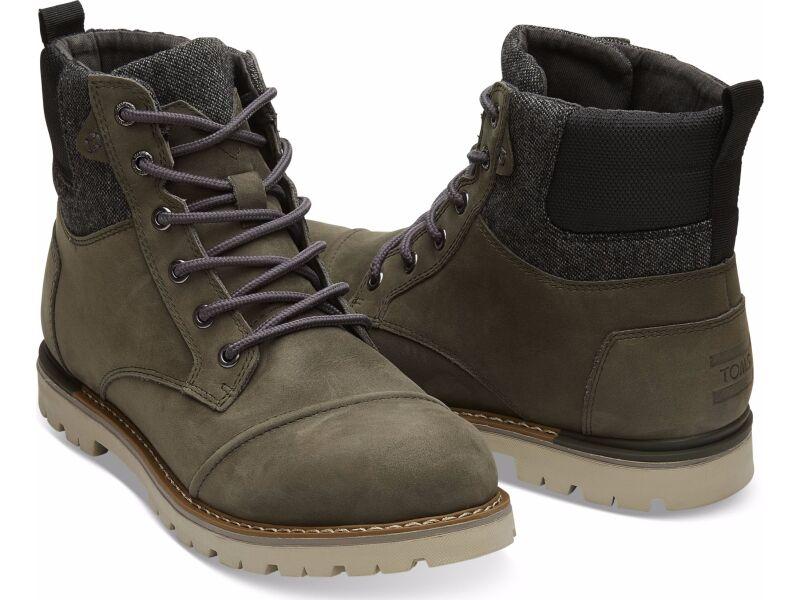 TOMS Nubuck Men'S Ashland Boot Tarmac Olive