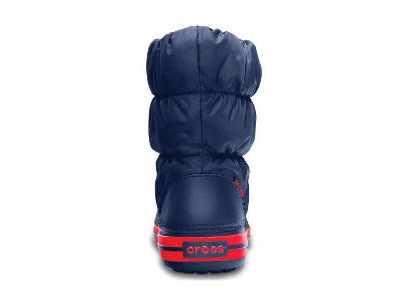Crocs™ Kids' Winter Puff Boot Navy/Red