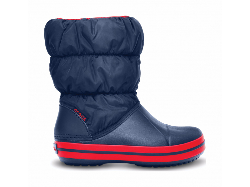 Crocs™ Kids' Winter Puff Boot Navy/Red