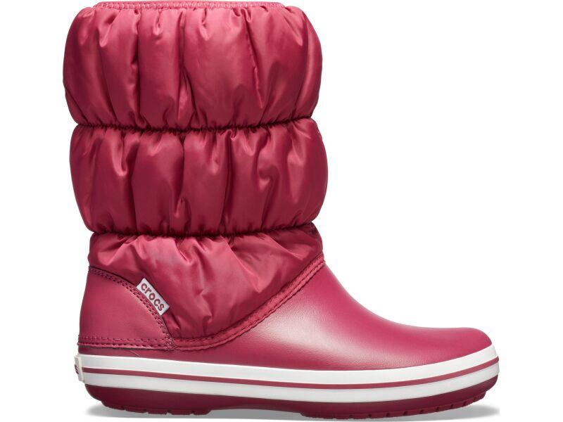 Crocs™ Winter Puff Boot Pomegranate/White