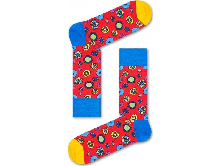 Happy Socks Flower Power Sock Red/Multi
