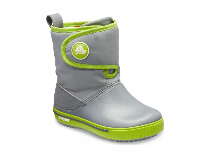 Crocs™ Kids' Crocband II.5 Gust Boot Charcoal/Volt Green