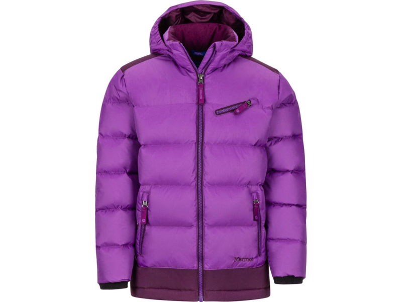Marmot Girl's Sling Shot Jacket Bright Violet/Dark Purple