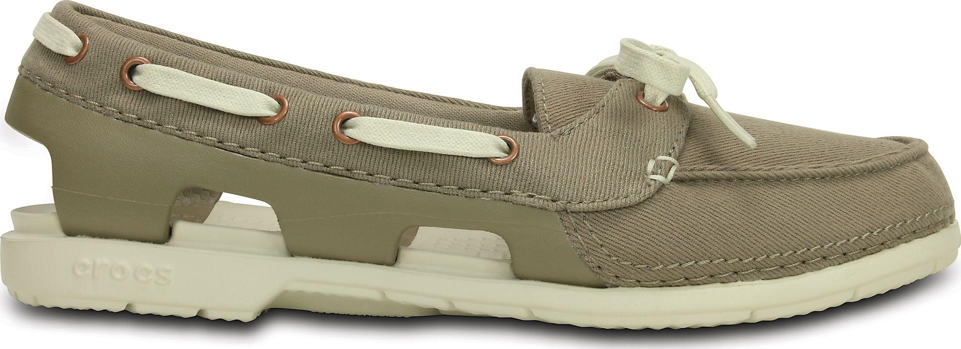 Crocs™ Beach Line Hybrid Boat Shoe Khaki/Stucco ...