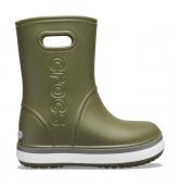 Crocs™ Crocband Rain Boot Kid's Army Green/Slate Grey
