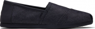 TOMS Heavy Denim Synthetic Trim Men's Alpargata Black