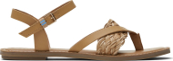 TOMS Veg Leather Synthetic Braid Women's Lexie Natural