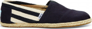 TOMS Stripe University Men's Classic Alpargata Black