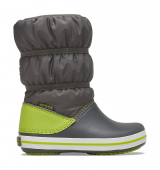 Crocs™ Crocband Winter Boot Kid's Slate Grey/Lime Punch