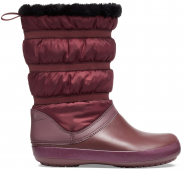 Crocs™ Women's Crocband Winter Boot Burgundy
