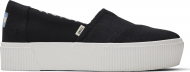 TOMS Heritage Canvas Women's Alpargata Boardwalk Black