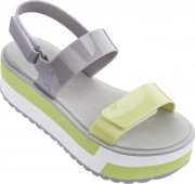 ZAXY Slash Plat Sandal Grey/Yellow