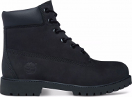 Timberland 6 In Premium Boot Junior's Black Nubuck