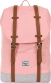 Herschel Retreat Mid-Volume Peach/Light Grey Crosshatch/Tan