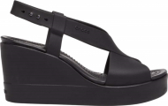 Crocs™ Brooklyn High Wedge Womens Black/Black