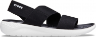 Crocs™ Literide Stretch Sandal Womens Black/White