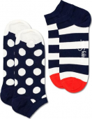 Happy Socks 2-Pack Big Dot Stripe Low Sock Multi 6500