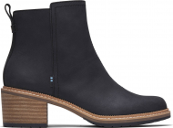 TOMS Smooth Waxy Leather Women's Marina Bootie Black