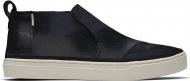 TOMS Metallic Crackle Suede Women's Paxton Slip-On Black