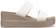 Crocs™ Brooklyn Mid Wedge Womens Stucco/Mushroom