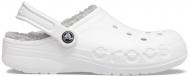 Crocs™ Baya Lined Clog White/Light Grey