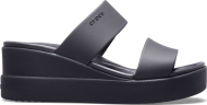 Crocs™ Brooklyn Mid Wedge Womens Black/Black